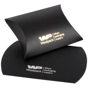 Plano Fix Flat-packed Pillow Gift Box, Small Matt Black Cardboard 70 x 70 x 22