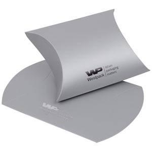 Plano Fix gondeldoosje, medium Cadeaudoosje in mat zilverkleurig karton 80 x 90 x 35