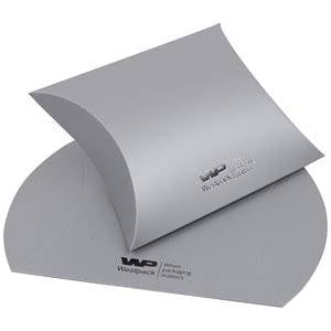 Plano Fix Flat-packed Pillow Gift Box, Large Matt Silver Cardboard 100 x 110 x 39