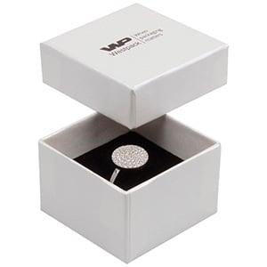 Boston opakowania na pierścionek Kolor kości słoniowej/ Biało-czarna gąbka 50 x 50 x 32