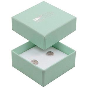 Boston Jewellery Box for Earrings / Studs / Charms Mint Green Cardboard/ Reversible Black-White Foam 50 x 50 x 22