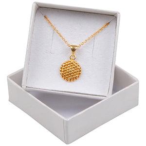 Boston Jewellery Box for Earrings / Studs / Charms Pearl Ivory Cardboard/ Reversible White-Black Foam 50 x 50 x 22