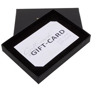 Boston Jewellery Box for Gift-Card Matt Black Cardboard / Black Flocked Cardboard 108 x 80 x 17