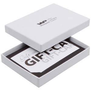 Boston Jewellery Box for Gift-Card White Linen-look Cardboa / Black Flocked Cardboard 108 x 80 x 17