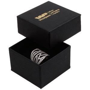 Boston XL sieradendoosje voor ring Mat zwart karton/ Zwart foam 59 x 59 x 38