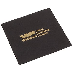 Lid Pad for Logo Print, Bangle Box Matt Black Cardboard 83 x 83 0 018 006 / 0 027 006