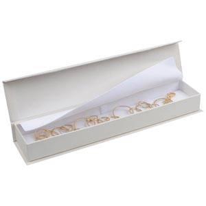 Milano sieradendoosje voor armband Pearl ivoorwit karton/ Wit interieur 227 x 50 x 26
