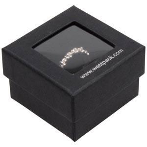 Boston Open opakowania na pierścionki Czarny karton/ czarna gąbka 50 x 50 x 32