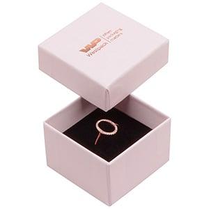Santiago sieradendoosje voor ring Poederroze karton / Zwarte foam insert 50 x 50 x 32