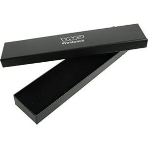 Santiago sieradendoosje voor armband Zwart karton/ Zwart foam 225 x 50 x 22