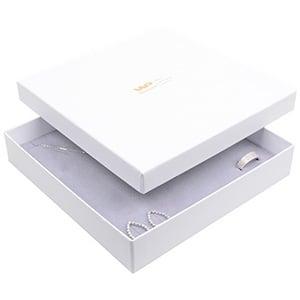 Santiago sieradendoosje voor collier / choker Wit karton/ Grijs foam 168 x 168 x 32