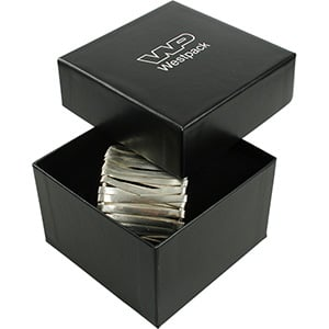 Santiago Jewellery Box for Watch / Bangle Black Cardboard / Black Foam 90 x 90 x 57