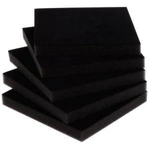 Extra foam insert voor doosje hanger/armring Zwart 81 x 81 x 10 0 027 006 / 0 018 006