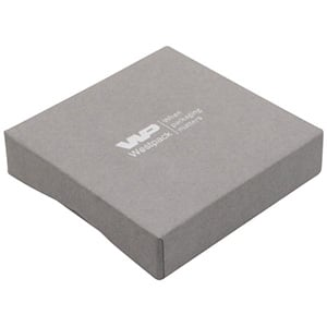 Amsterdam Postal Jewellery Box Bangle / Pendant Grey Cardboard with Notch/ Black Foam 86 x 86 x 20