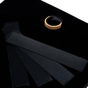 Ruban en satin: Amsterdam écrin collier, 48 pcs. Satin noir 19 x 100