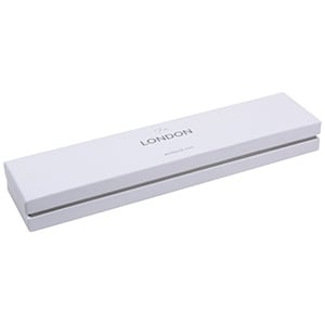 London Jewellery Box for Bracelet White Soft-Touch Cardboard/ White Foam 220 x 50 x 25