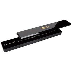 Rio sieradendoosje voor armband Glanzend zwart kunststof met glitter/ Zwart foam 220 x 40 x 19