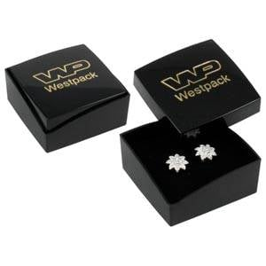 Copenhagen Jewellery Box Studs/ Earrings / Charms Glossy Black Lid/ Matt Black Base / Black Foam 43 x 43 x 20