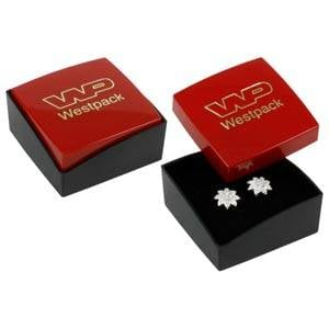 Copenhagen Jewellery Box Studs/ Earrings / Charms Glossy Red Lid/ Matt Black Base / Black Foam 43 x 43 x 20