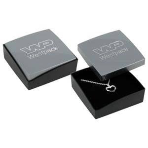 Copenhagen Jewellery Box Drop Earrings/ Pendant Glossy Silver Lid/ Matt Black Base / Black Foam 60 x 60 x 21