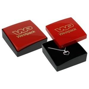 Copenhagen Jewellery Box Drop Earrings/ Pendant Glossy Red Lid/ Matt Black Base / Black Foam 60 x 60 x 21