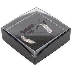 Copenhagen Open Jewellery Box  Earrings / Pendant Transparent Lid/ Matt Black Base / Black Foam 60 x 60 x 21