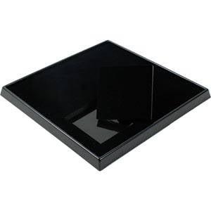 Plateaux présentoirs pour 9 écrins bracelet Aluminium / Mousse noire/ Ecrins 82 x 82 mm 230 x 230 x 25