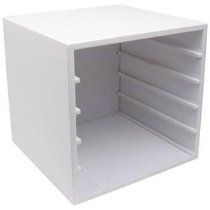 Kastje voor 5 tableaus Hoogglans wit hout 263 x 256 x 253