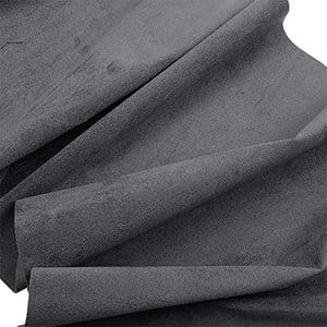 Tissu velours souple au mètre Gris foncé 140 x 1