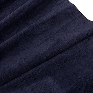 Tissu velours souple au mètre Bleu nuit 140 x 1
