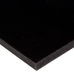 Foam covered with velour, 15 mm thick Black Velour / Black Foam 15 x 360