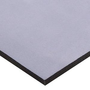 Foam covered with velour, 15 mm thick Zwart Velour / Black Foam 15 x 360