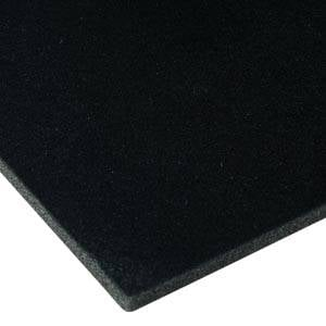 Foam covered with velour, 7 mm thick Black Velour / Black Foam 7 x 470