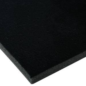 Foam covered with velour, 10 mm thick Black Velour / Black Foam 10 x 470