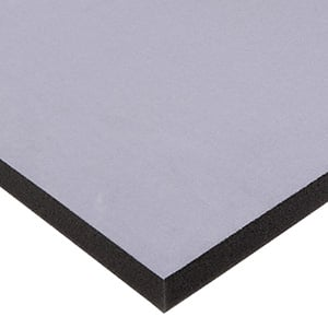 Foam covered with velour, 10 mm thick Grey Velour / Black Foam 10 x 470