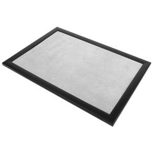 Presentatietableau vlak, voor tonen van sieraden Zwarte frame/ Lichtgrijze velours 390 x 270