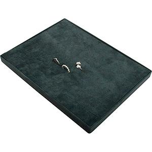 Insertion pour petit plateau : 60 bagues, en fil Cloison gris foncé/ Coussins en velours gris foncé 207 x 274