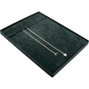 Insert voor Klein Tableau: 10x Ketting, op haakjes Donkergrijs Partitie/ Donkergrijs velours kussens 207 x 274