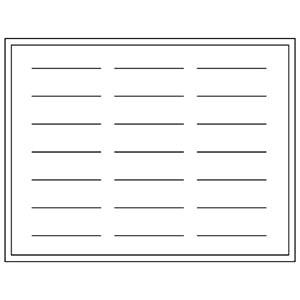 Presentatiebak voor 21 Slavenarmbanden H-3 207 x 274 mm