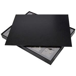Couvercle plein pour petit plateau Similicuir noir 284 x 216 x 8