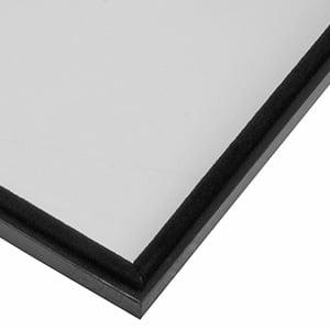 Doorzichtig deksel voor kunstleren tableau Mat zwart kunstleder 284 x 216 x 12