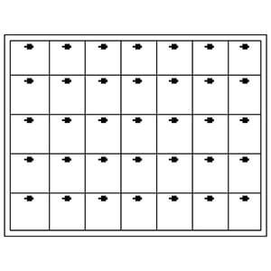 Insert voor Klein Tableau: 35x Universeel, haakjes H- 284 x 216