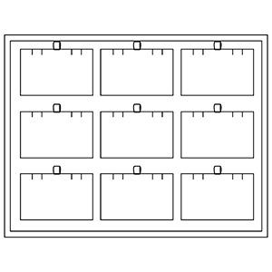 Tableau 9x Hanger/Oorsieraden H -, met magazijn 284 x 216 x