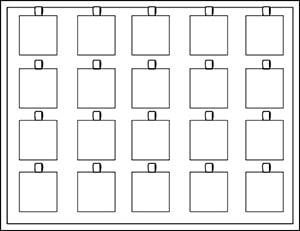 Tableau 20x Hanger/Bedel, luxe H- , met magazijn 284 x 216 x