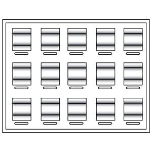 Tableau 15x Trouwringen, luxe H- , voor prijsblokjes 284 x 216 x