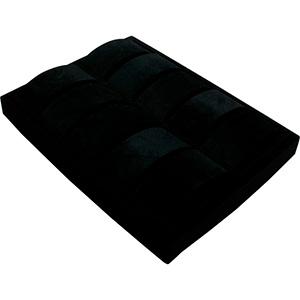 Insert voor Klein Tableau: 10x Horloge op beugel Zwarte Partitie/ Zwarte velours kussens 207 x 274