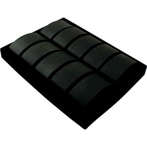 Insertion pour petit plateau: 10x montre masculin Cloison noire / Coussins en similicuir noir 207 x 274