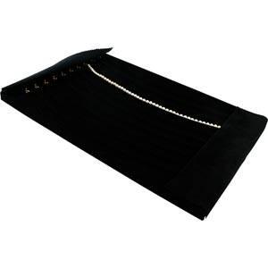 Insert voor Groot Tableau: 10x Collier, m. haakjes Zwarte Partitie/ Zwarte velours kussens 274 x 424