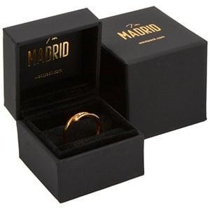 Madrid opakowania na pierścionki Czarne Soft-Touch / czarna gąbka 49 x 49 x 40