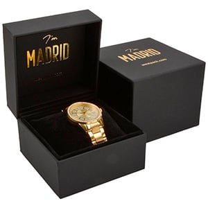 Madrid Jewellery Box for Watch / Bangle Matt Black Soft-touch / Black Velour Interior 100 x 100 x 74 88 x 82 x 38 mm
